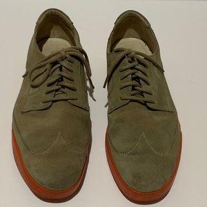 Cole Haan Oxford Shoes Orange Sole Tan Suede 10.5